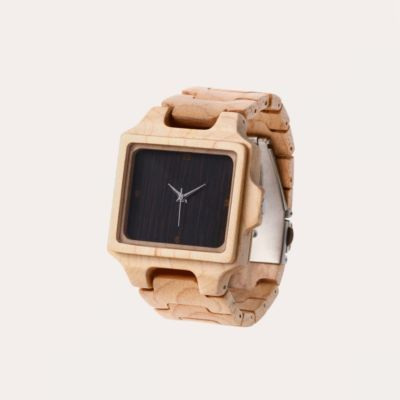 Jam Tangan Kayu Kotak Kayan Maple