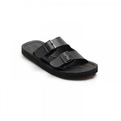 Sandal Slide kasual pria proud black
