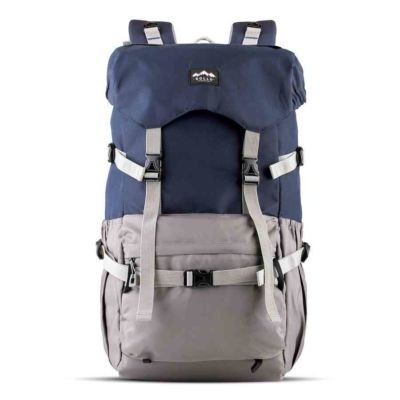 Tas Backpack Travel Peak Navy Grey