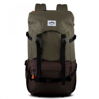 Tas Backpack Travel Peak Olive Brown