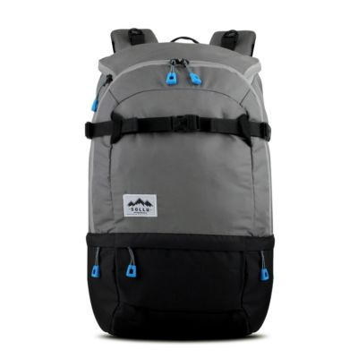 Tas Backpack Travelling Summit Grey Black