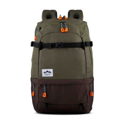 Tas Backpack Travelling Summit Olive Brown