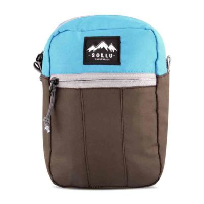 Tas mini slingbaga selempang tactic Blue brown