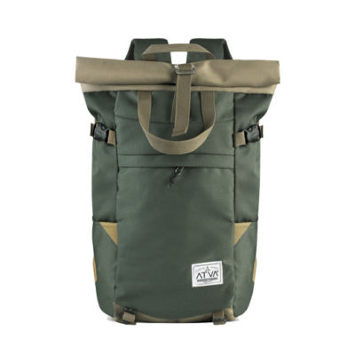 Tas Punggung Rolltop Backpack Travel Harrier Olive Khaki