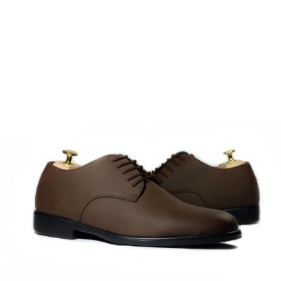 Sepatu formal pantofel Derby Worka Brown Doff