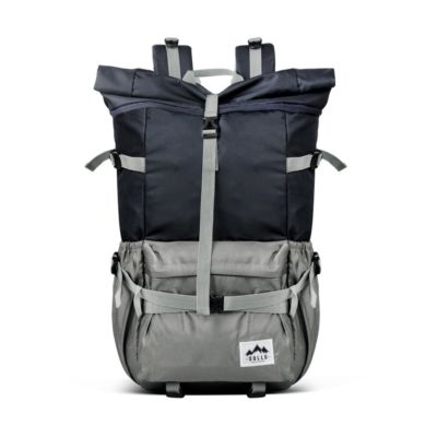 Tas Backpack Rolltop Savana Navy Grey