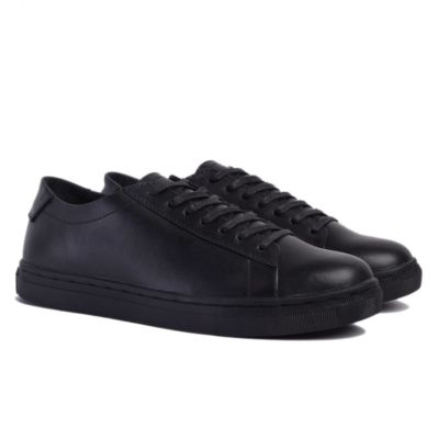 Sepatu Kets Sneakers Kulit Mark Full Black