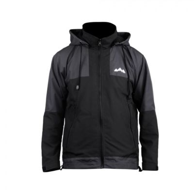 Jaket Gunung parasut windbreaker Zipper Two Black Grey