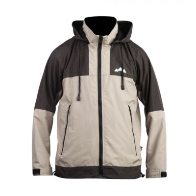 Jaket Gunung parasut windbreaker Zipper Two Brown Khaki