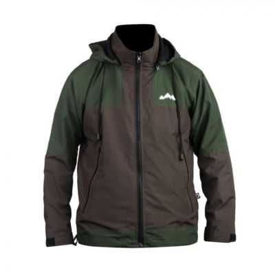 Jaket Gunung parasut windbreaker Zipper Two Olive Green