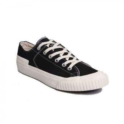 Sepatu kets sneakers vulcanized Earth Basic Black White