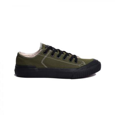 Sepatu kets vulcanized sneakers earth basic green army