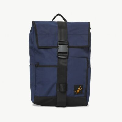 Tas Backpack Rolltop Hoga Navy Blue