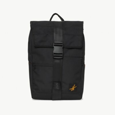 Tas Backpack Rolltop Hoga Black