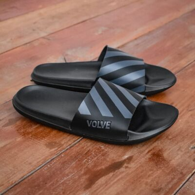 Sandal Slipper Selop Rayas 02 Grey