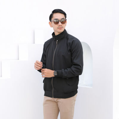 Jaket pria outerwear james harrington black