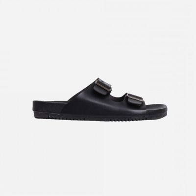 Sandal selop kasual unisex adson full black