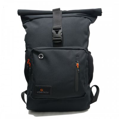 Tas Backpack rolltop imortal black